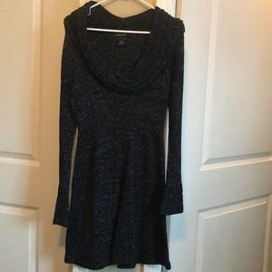 White House Black Market Cowl Neck Sweater Dress